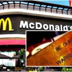 """บัตรสีทอง McDonald's เครื่องหมายการันตีว่าคุณ """"สามารถทานฟรีได้ตลอดชีวิต!!"""""""